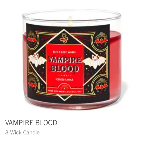 """🧛♀️🕯NWT‼️ BBW """"Vampire's Blood"""" 3-wick Candle"""